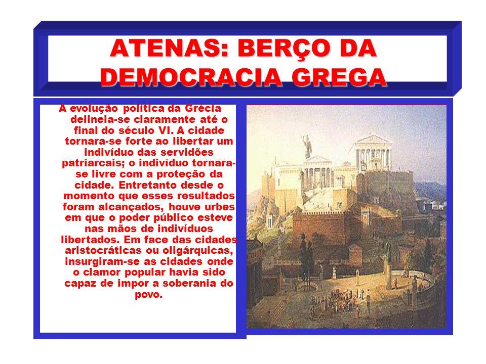 ATENAS: BERÇO DA DEMOCRACIA GREGA