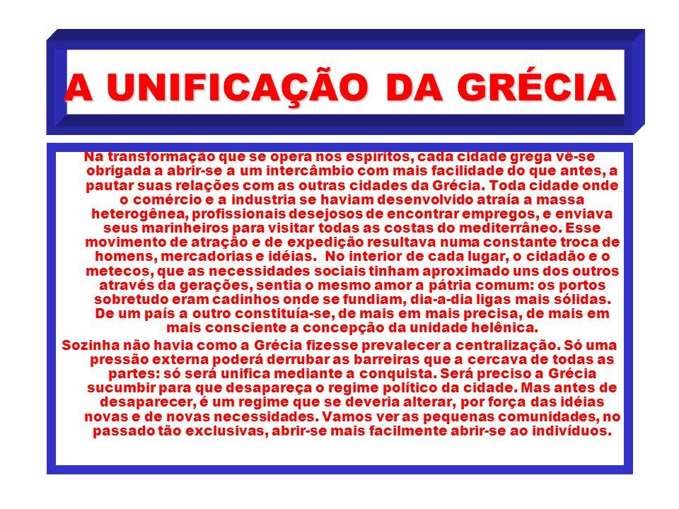 A UNIFICAÇÃO DA GRÉCIA