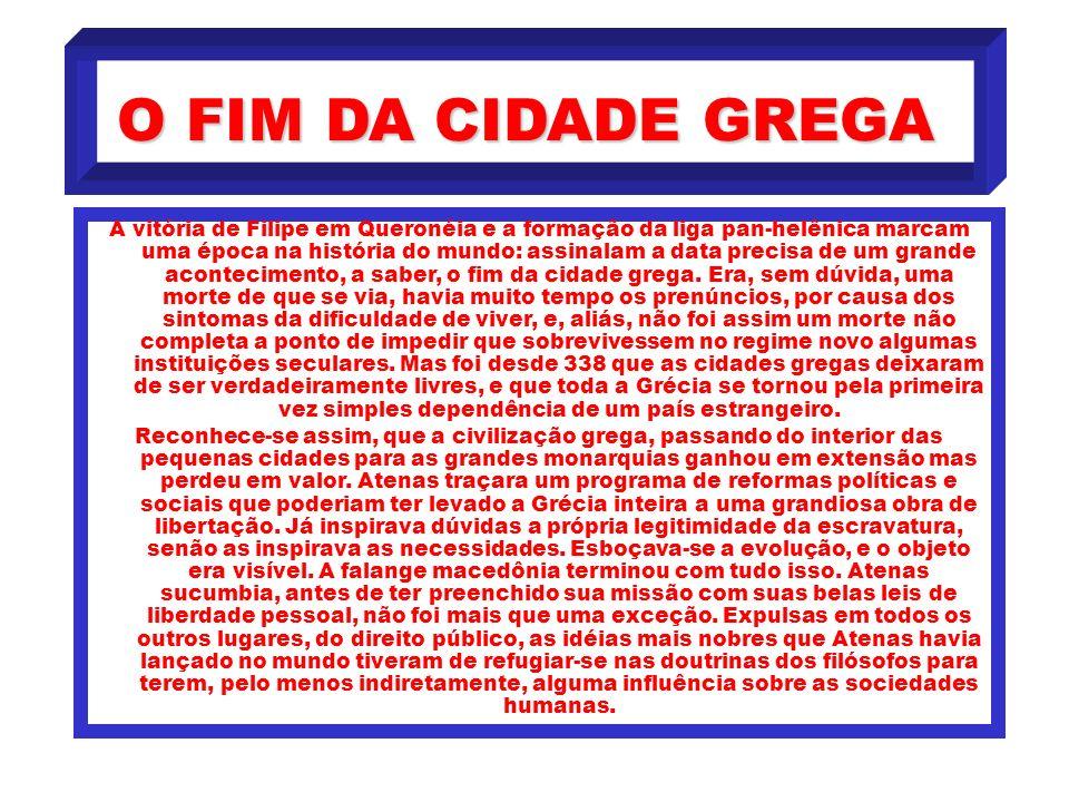 O FIM DA CIDADE GREGA
