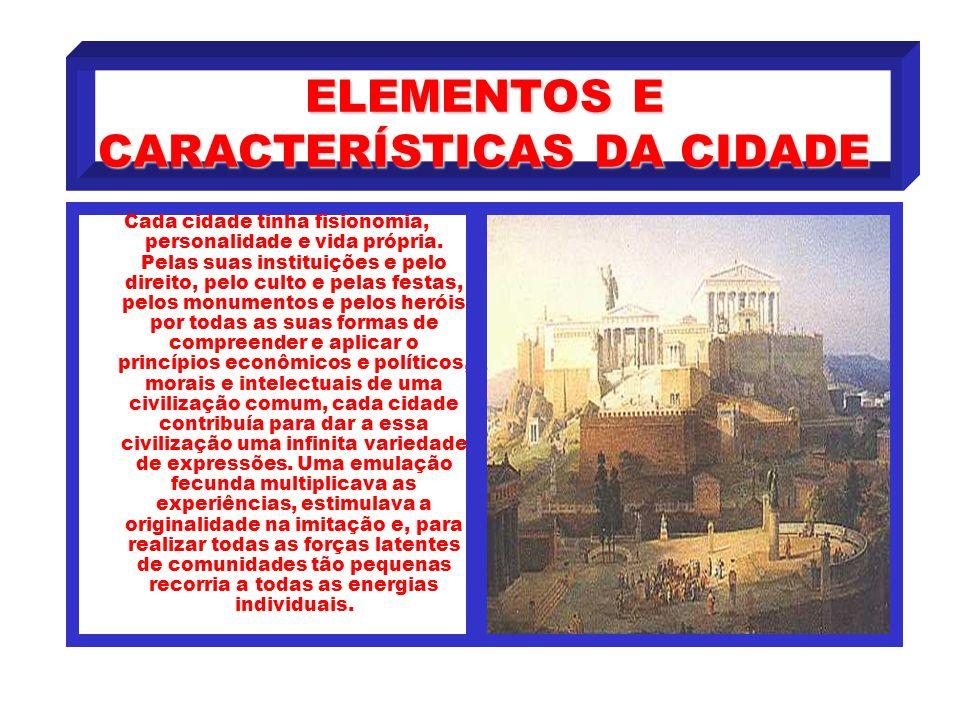 ELEMENTOS E CARACTERÍSTICAS DA CIDADE