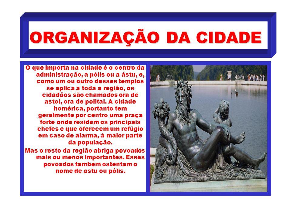 ORGANIZAÇÃO DA CIDADE
