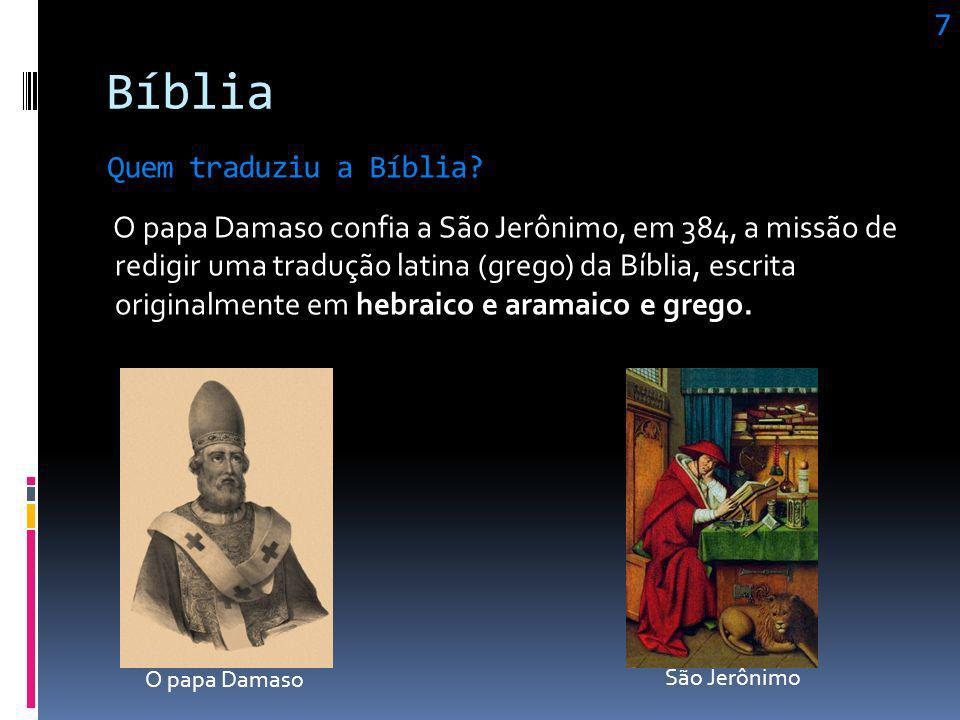 Bíblia 7 Quem traduziu a Bíblia