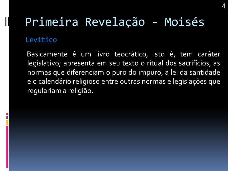 Primeira Revelação - Moisés