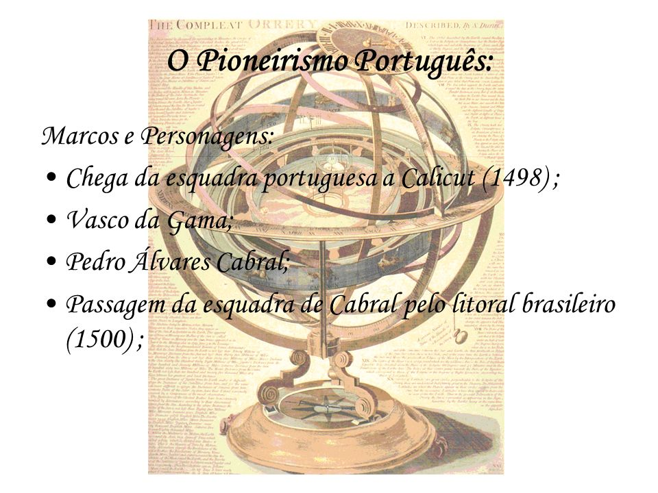 O Pioneirismo Português: