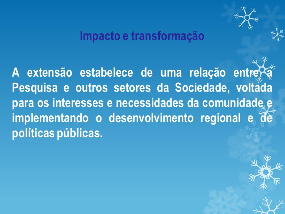 Impacto e transformação