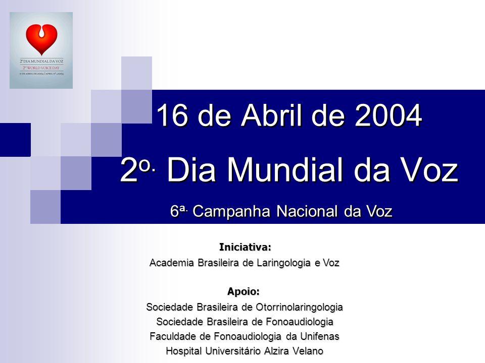 16 de Abril de 2004 2o. Dia Mundial da Voz