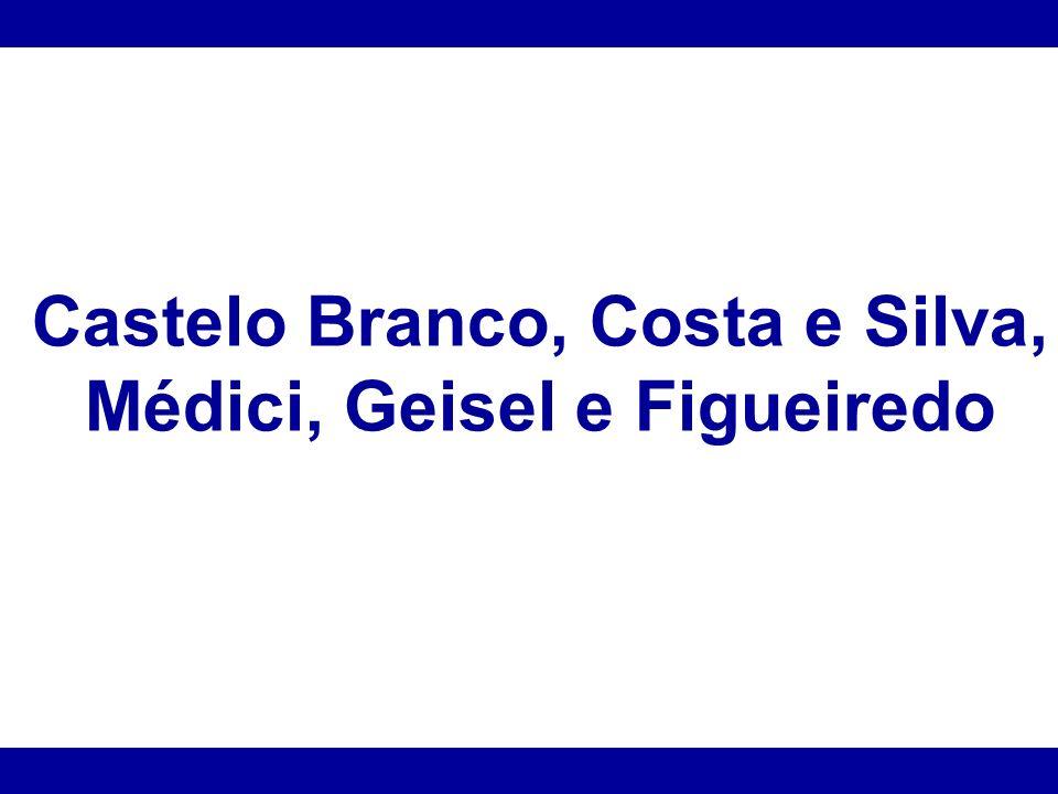 Castelo Branco, Costa e Silva, Médici, Geisel e Figueiredo