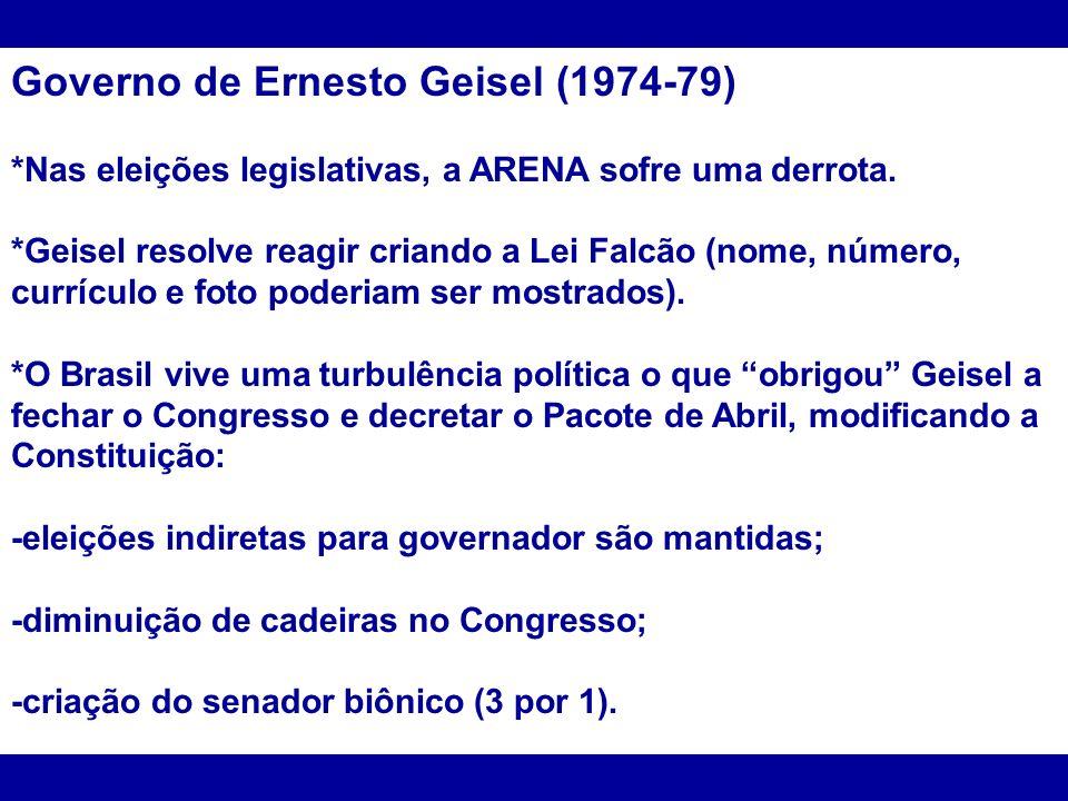 Governo de Ernesto Geisel (1974-79)
