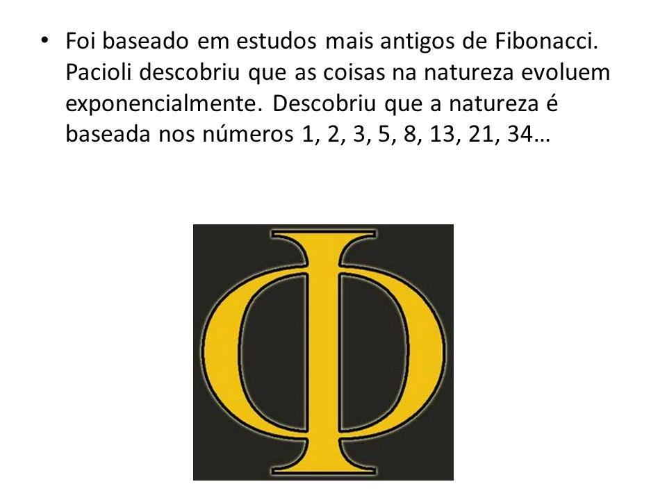 Foi baseado em estudos mais antigos de Fibonacci