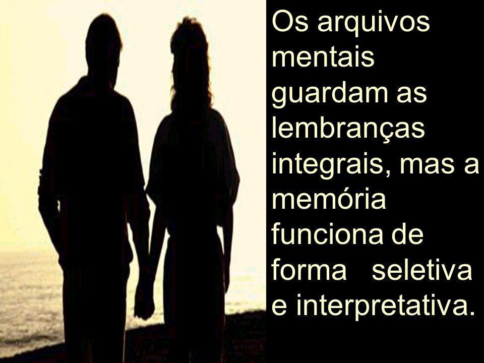 Os arquivos mentais guardam as lembranças integrais, mas a memória funciona de forma seletiva e interpretativa.