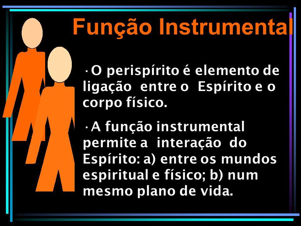 Função Instrumental O perispírito é elemento de ligação entre o Espírito e o corpo físico.
