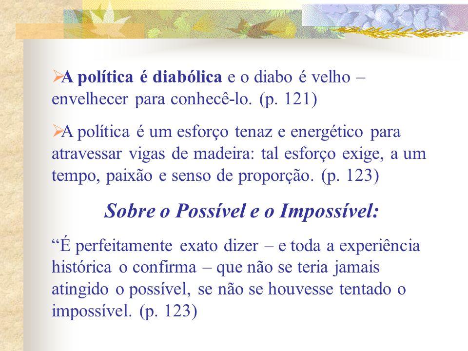 Sobre o Possível e o Impossível: