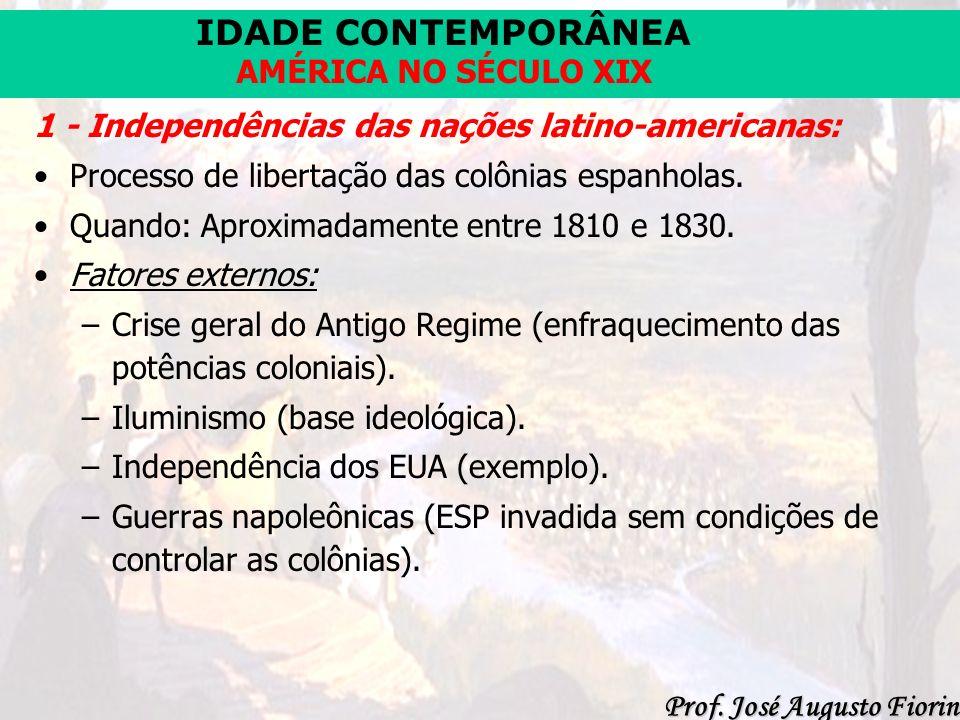 1 - Independências das nações latino-americanas: