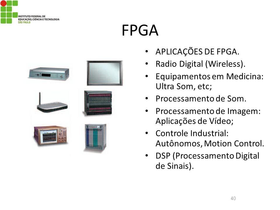 FPGA APLICAÇÕES DE FPGA. Radio Digital (Wireless).