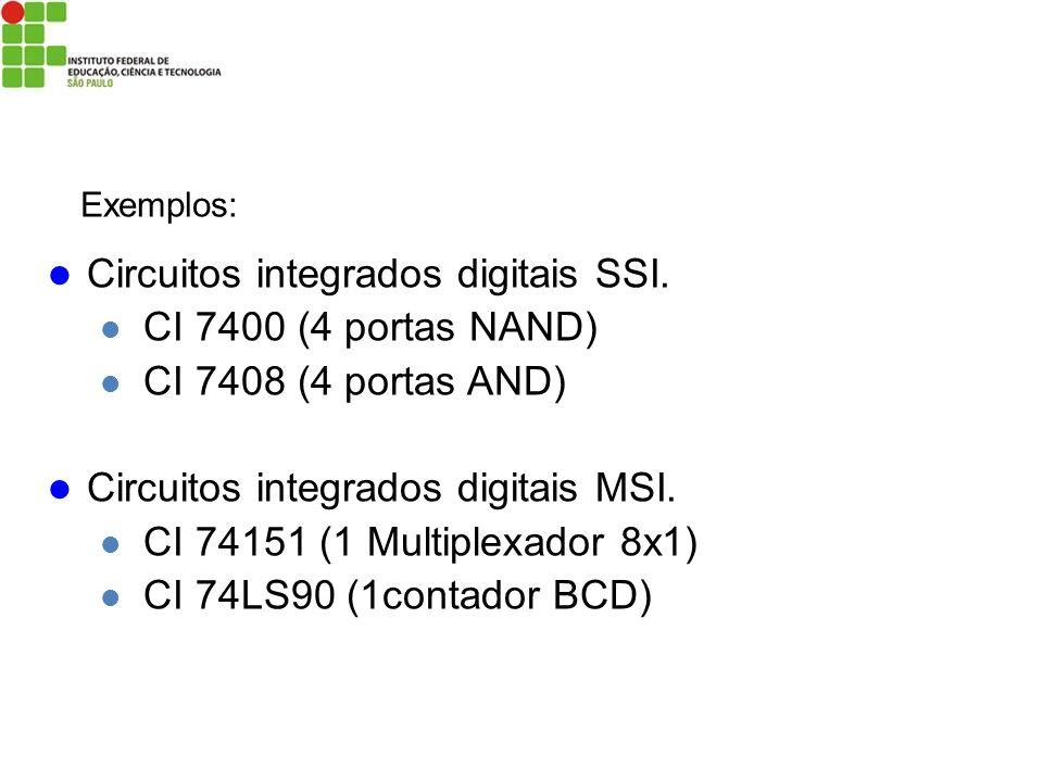 Circuitos integrados digitais SSI. CI 7400 (4 portas NAND)