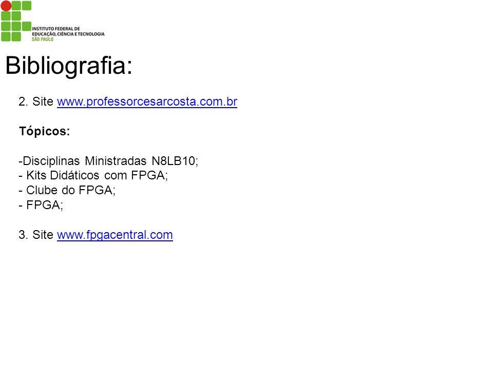 Bibliografia: 2. Site www.professorcesarcosta.com.br Tópicos: