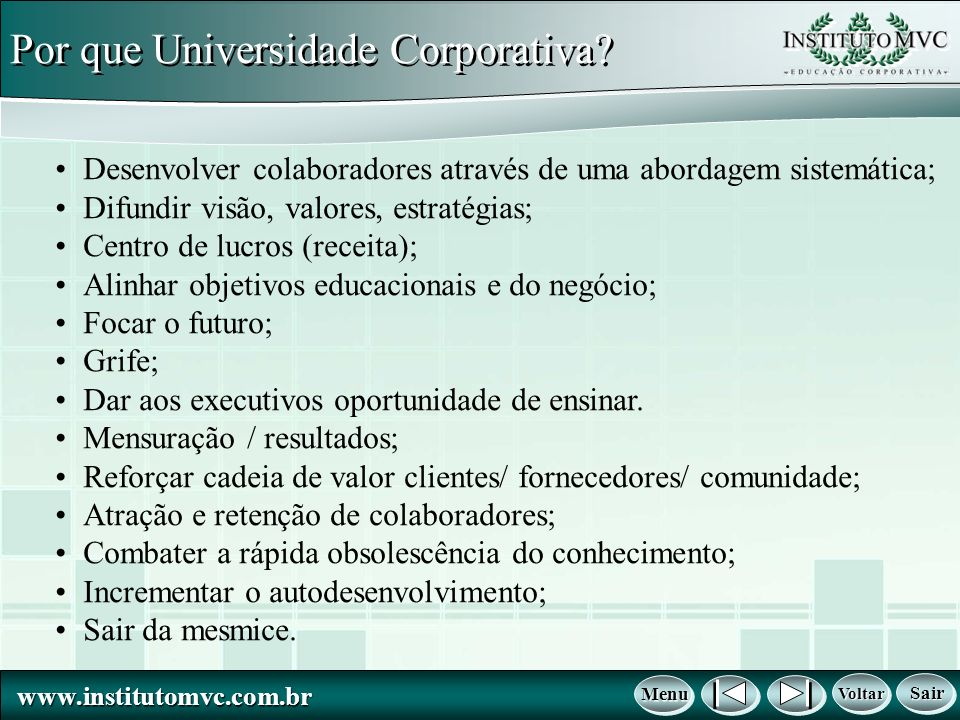 Por que Universidade Corporativa