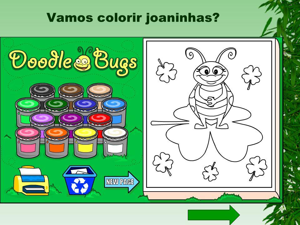 Vamos colorir joaninhas