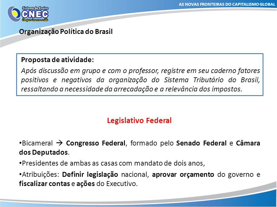 Legislativo Federal Organização Política do Brasil
