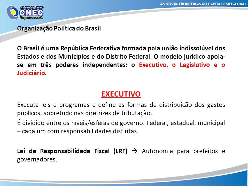 EXECUTIVO Organização Política do Brasil