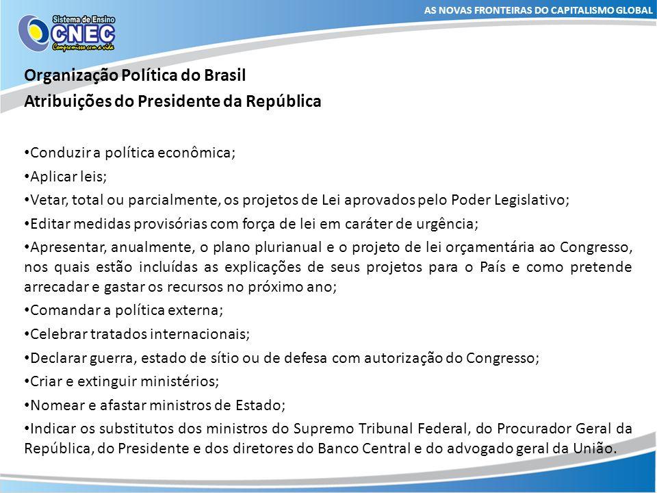 Organização Política do Brasil Atribuições do Presidente da República