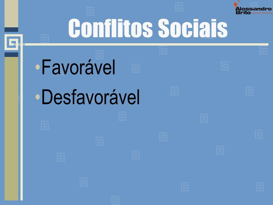 Conflitos Sociais Favorável Desfavorável