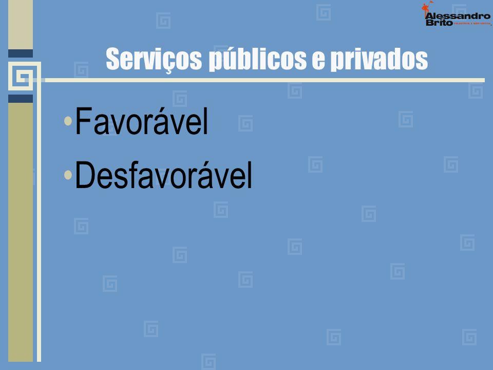 Serviços públicos e privados