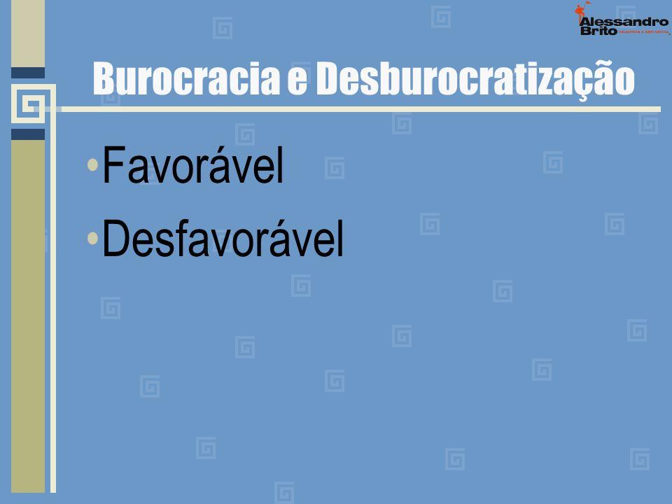 Burocracia e Desburocratização