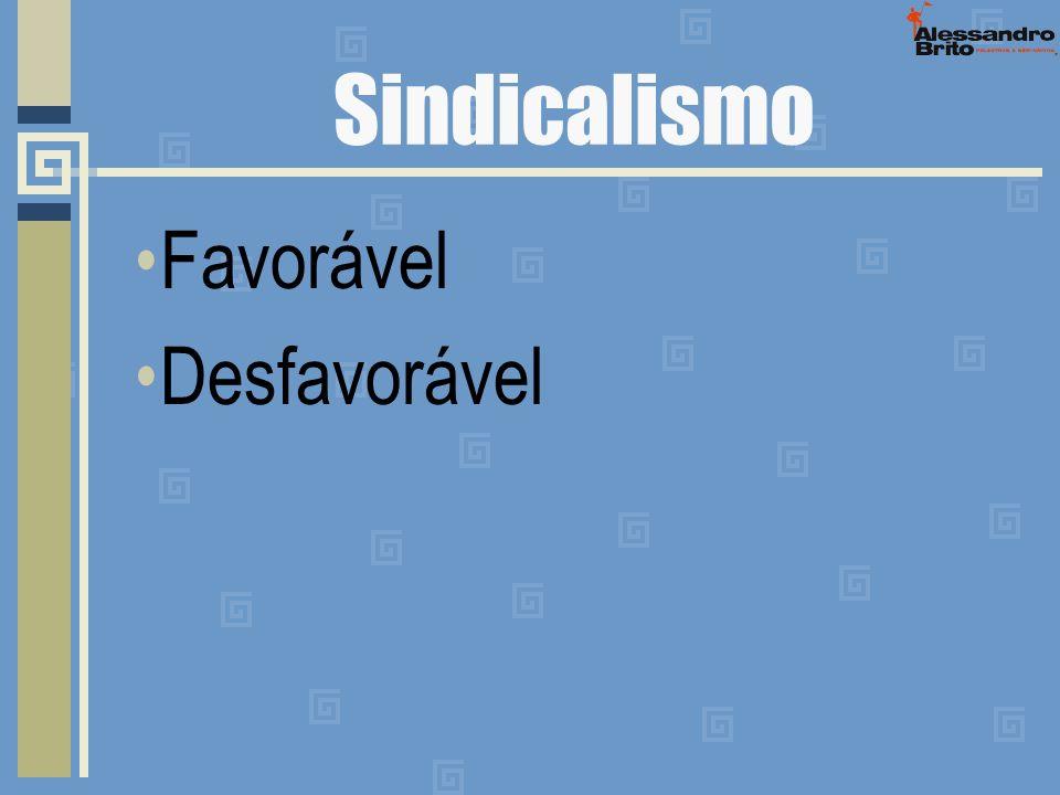 Sindicalismo Favorável Desfavorável