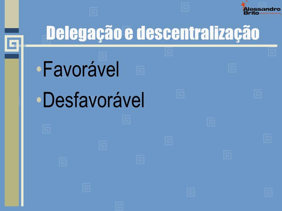 Delegação e descentralização