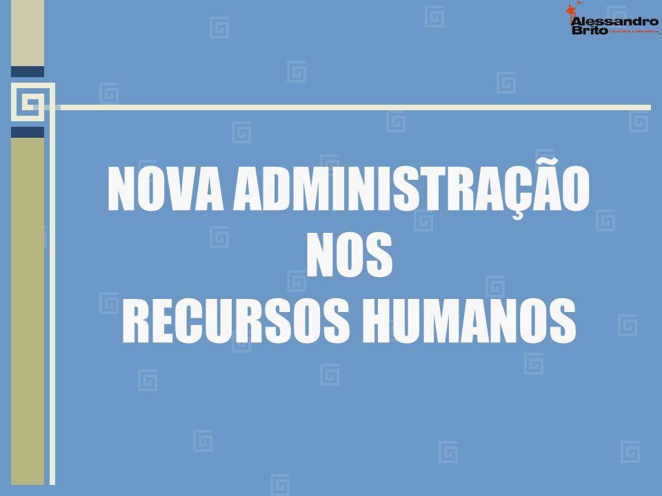 NOVA ADMINISTRAÇÃO NOS RECURSOS HUMANOS