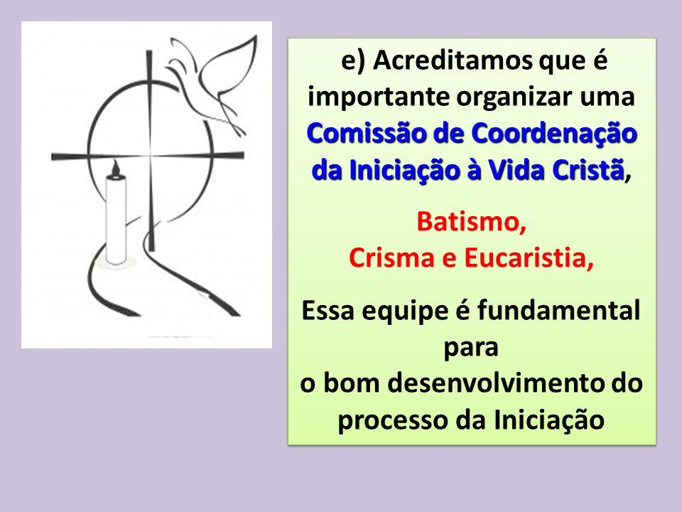 Comissão de Coordenação da Iniciação à Vida Cristã, Batismo,