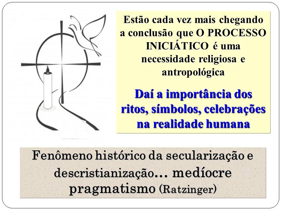 Daí a importância dos ritos, símbolos, celebrações na realidade humana