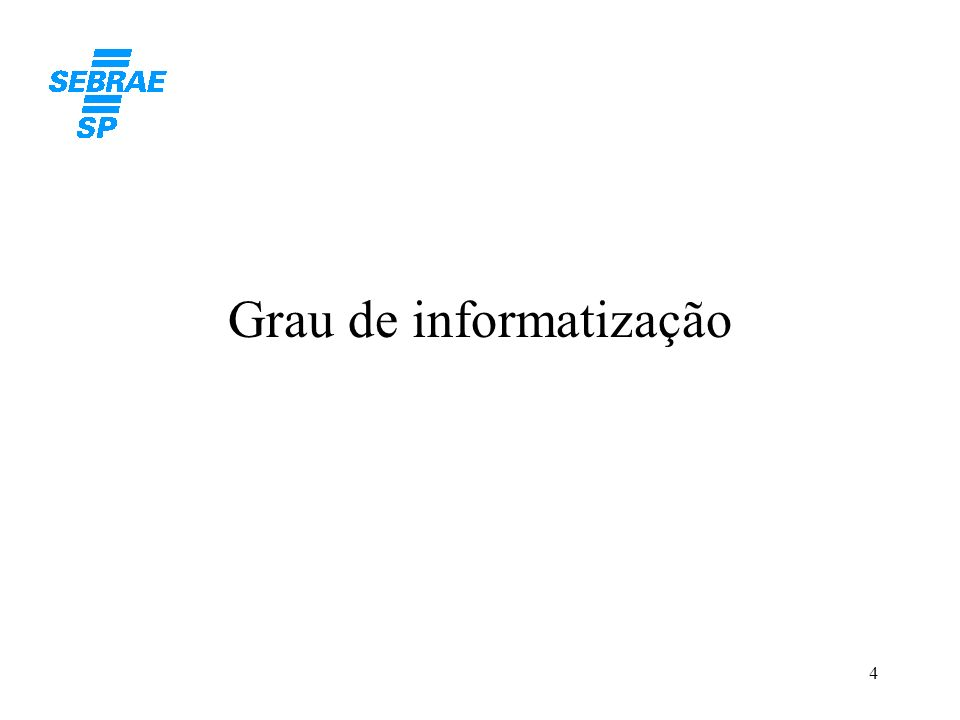 Grau de informatização