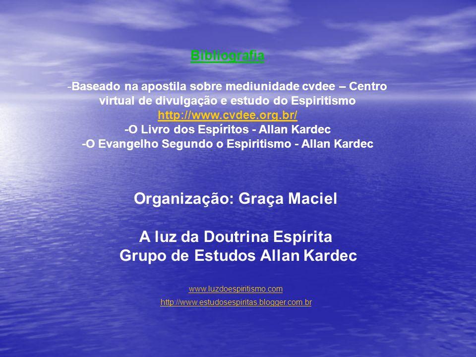 Organização: Graça Maciel A luz da Doutrina Espírita