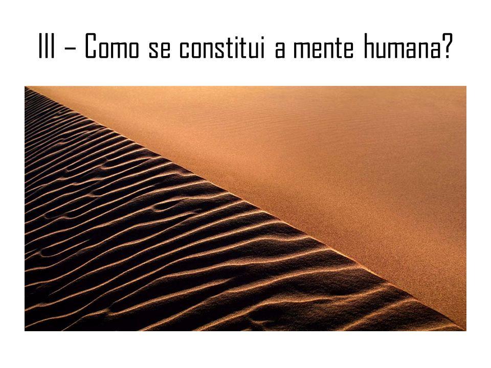 III – Como se constitui a mente humana