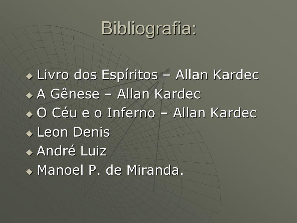 Bibliografia: Livro dos Espíritos – Allan Kardec