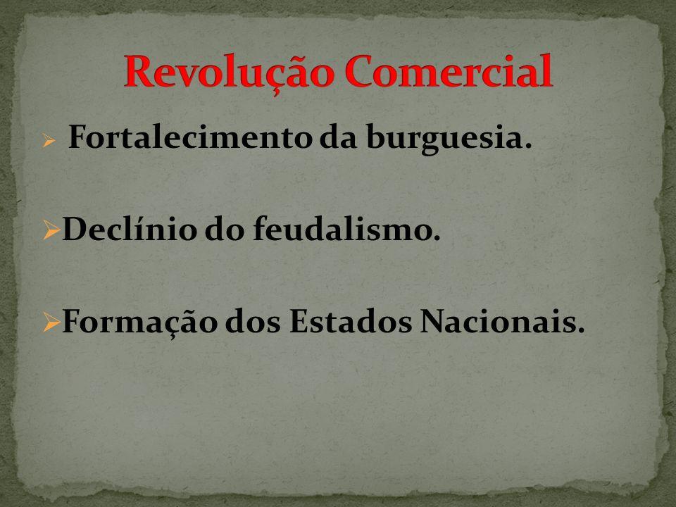 Revolução Comercial Declínio do feudalismo.