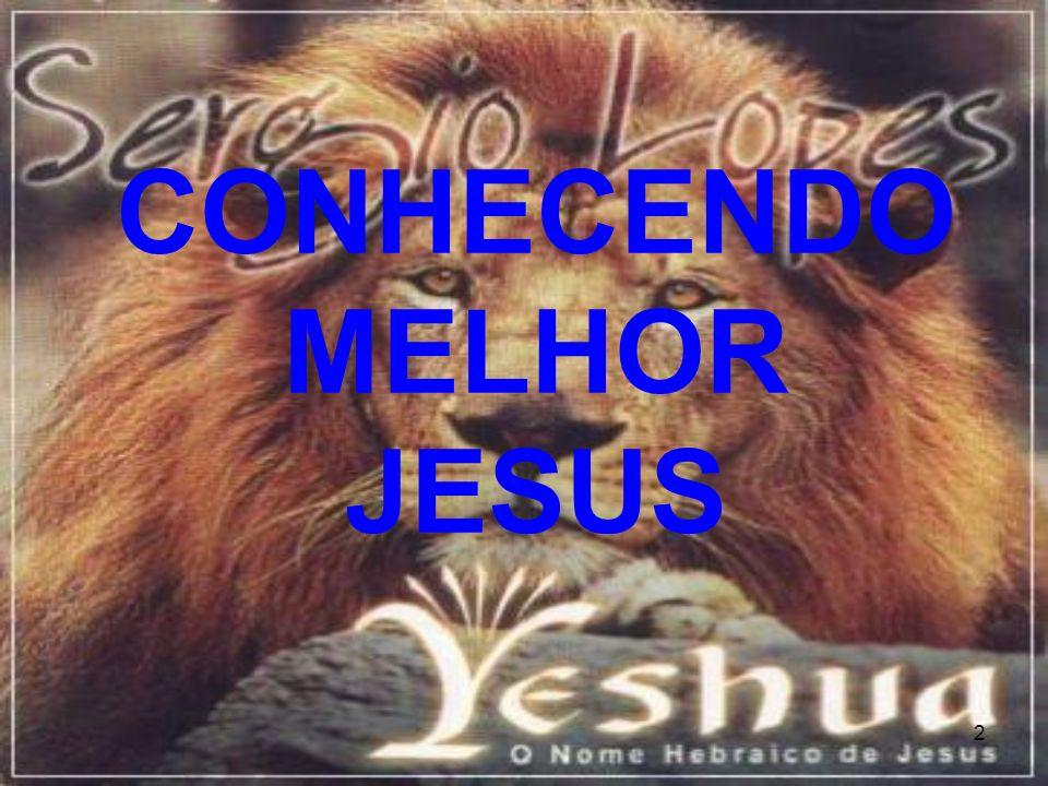 CONHECENDO MELHOR JESUS