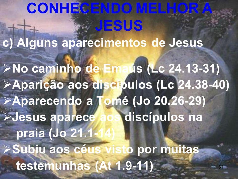CONHECENDO MELHOR A JESUS