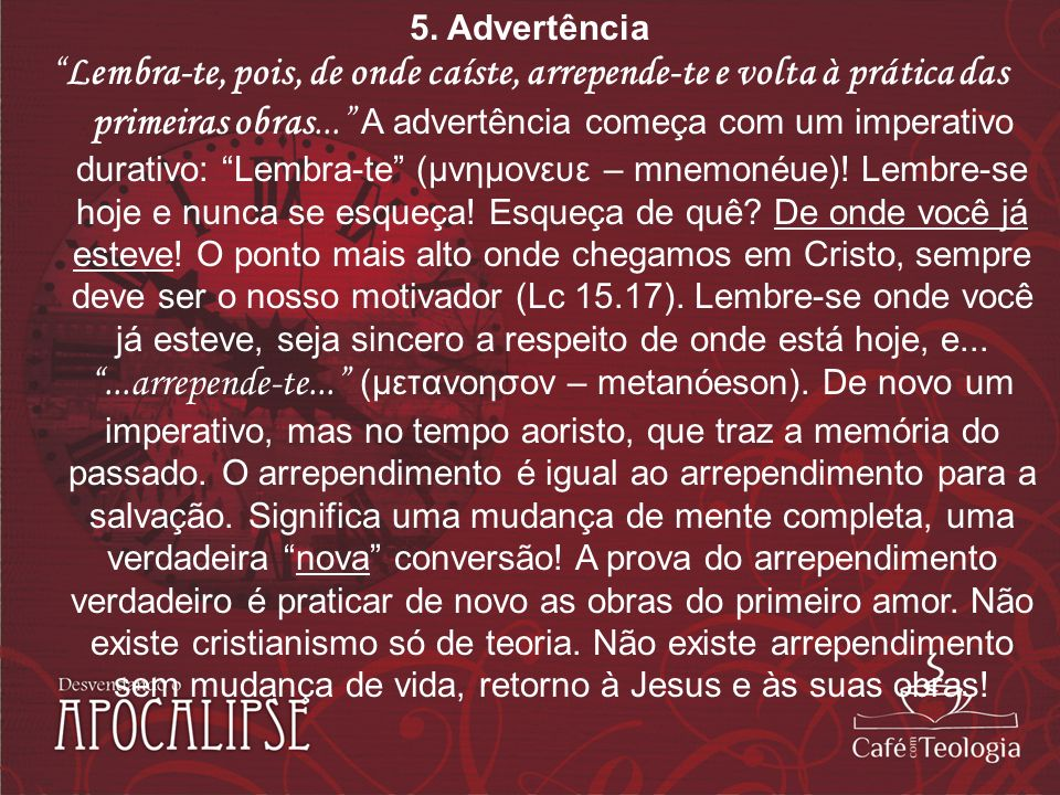 5. Advertência