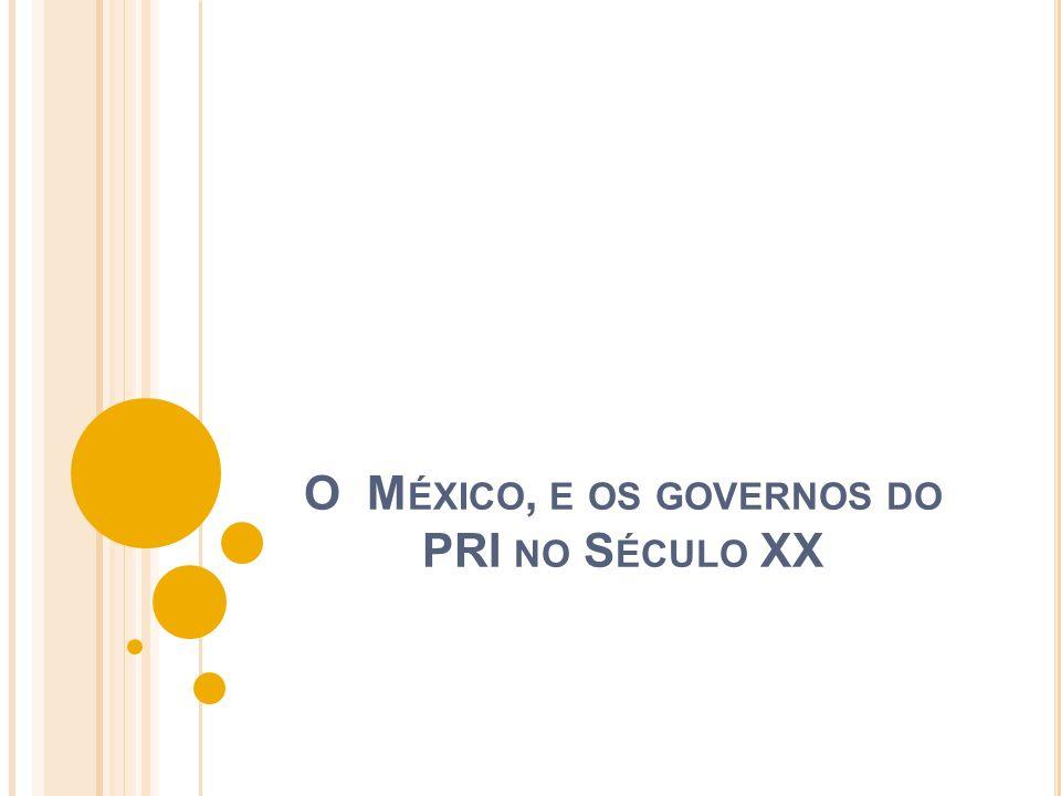 O México, e os governos do PRI no Século XX