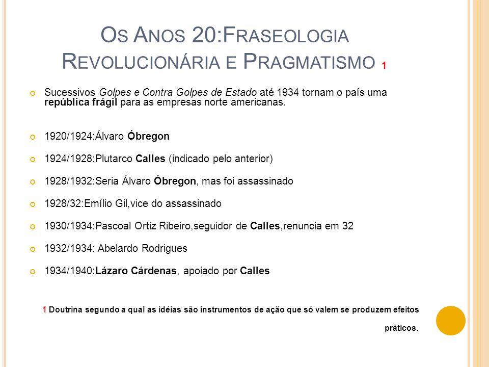 Os Anos 20:Fraseologia Revolucionária e Pragmatismo 1