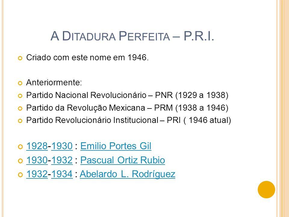 A Ditadura Perfeita – P.R.I.