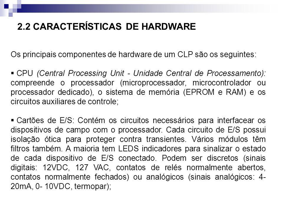 2.2 CARACTERÍSTICAS DE HARDWARE