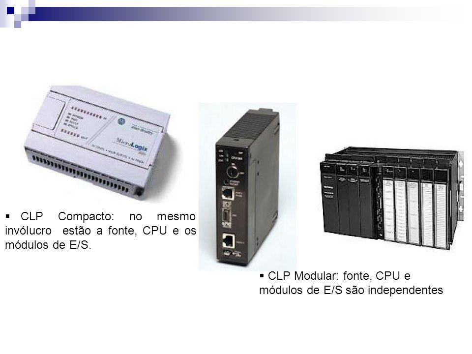 CLP Compacto: no mesmo invólucro estão a fonte, CPU e os módulos de E/S.
