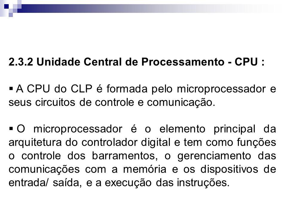2.3.2 Unidade Central de Processamento - CPU :