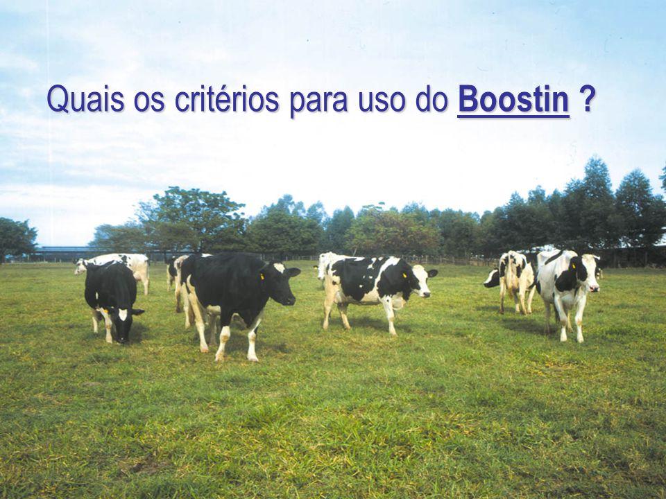 Quais os critérios para uso do Boostin