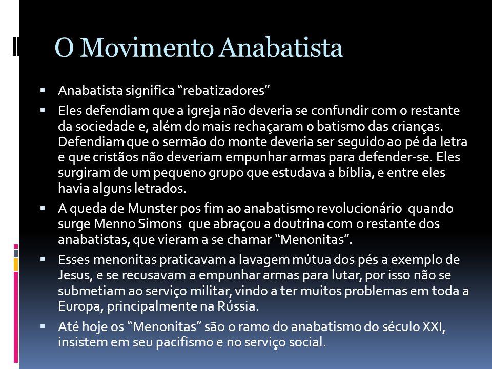 O Movimento Anabatista