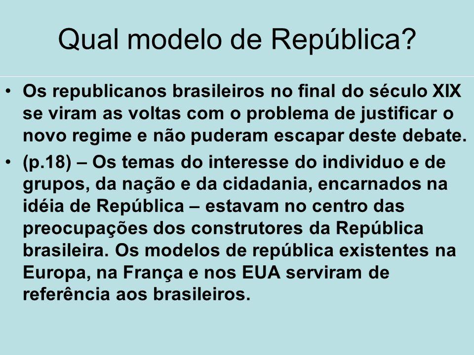 Qual modelo de República